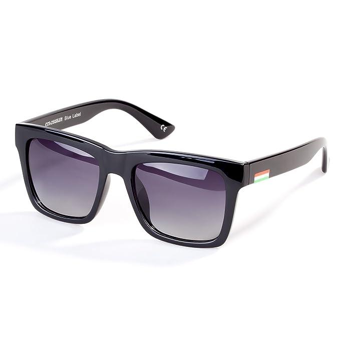 39cd5092cb COLOSSEIN Vintage Polarized Sunglasses for Women Square Horn Rimmed UV400  Polarized Driving Glasses