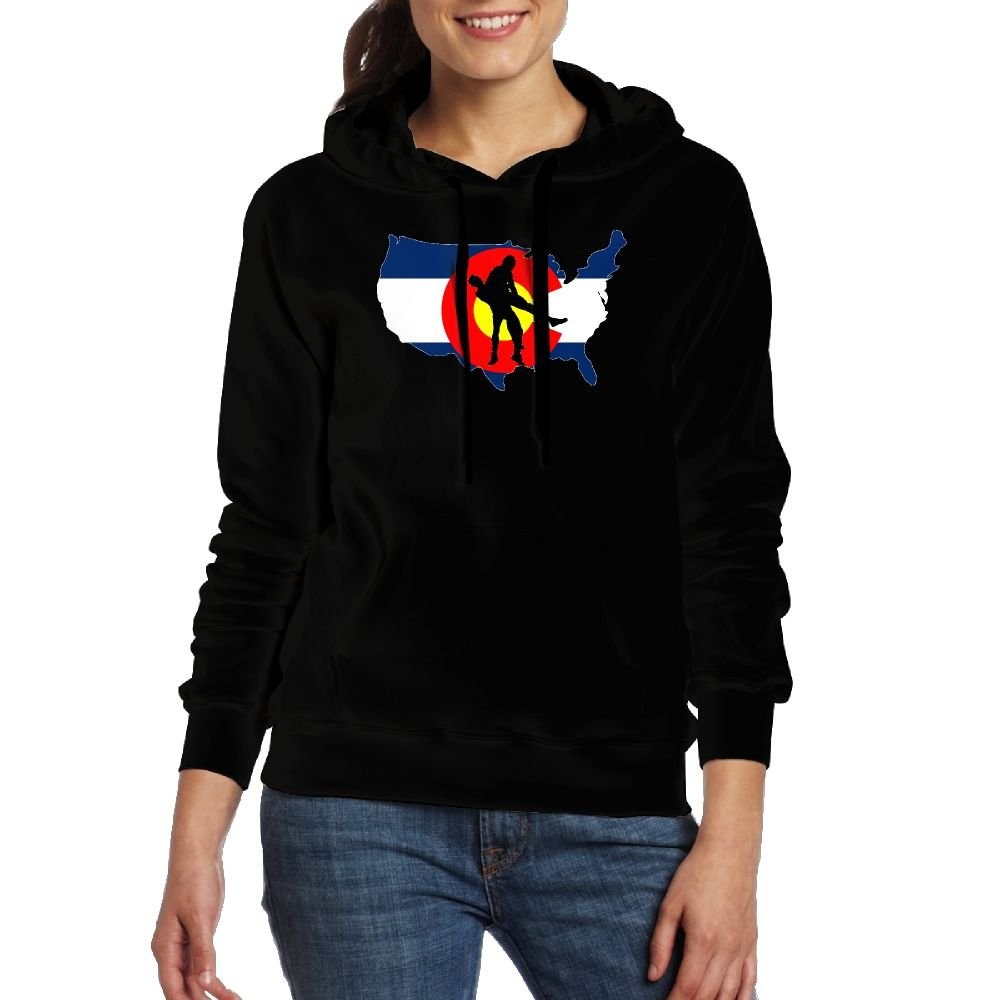 Colorado Wrestling Lady Nice Hoodie With Pockets by Q5S6 Hoodies