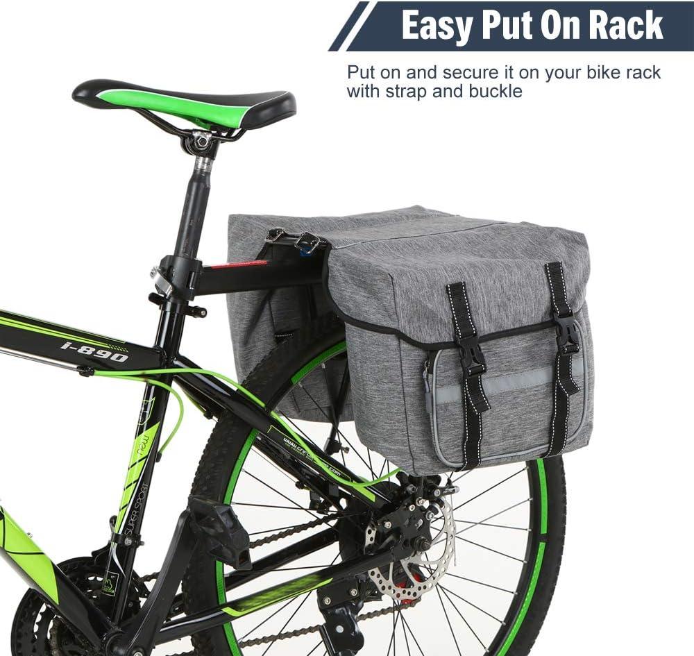 Lixada Bike Back Pannier Bicycle Rear Seat Bag Cycling Rack Grocery Pannier Road Bike Storage Bag