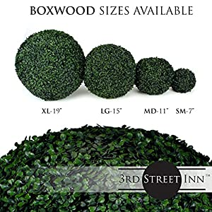 3rd Street Inn Topiary Ball - Artificial Topiary Plant - Wedding Decor - Indoor/Outdoor Artificial Plant Ball - Topiary Tree Substitute 5