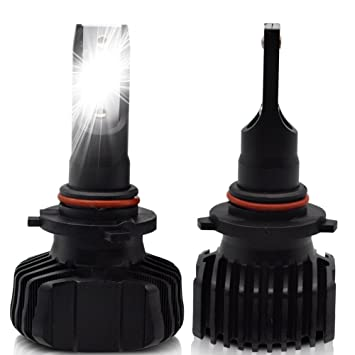 LncBoc H4 Hi//Lo LED Headlight Bulbs 4500LM//H 4500LM//L 6500K White Extremely Bright White CSP Chips High Quality Conversion Kit 9-32V