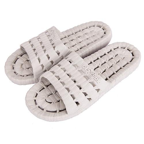 YUHUAWYH Zapatillas de Baño Unisex Zapatillas de Piso de Interior Sandalia de Verano Antideslizante (37, Sandía roja)