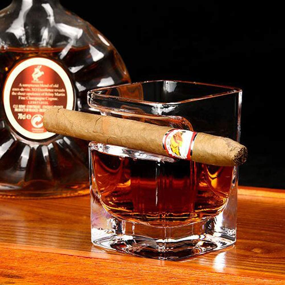 Cigarro-Vaso de Whisky Bourbon, Copas de Vino Vaso de Whisky ...