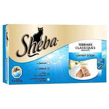 Sheba Classiques Océan -Lote de 4tarrinas de alimento hú