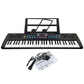 JJPRIME - Teclado electrónico de 61 Teclas Música Keyboard Regalo para niños Órgano Digital Multifuncional de