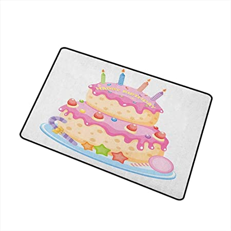 Cumpleaños para niños Alfombra universal para puerta Pastel ...