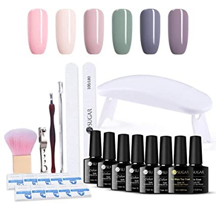 UR SUGAR Esmalte de Uñas de Gel Kit -6W UV/LED Lámpara con Base