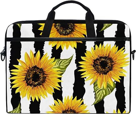 Laptop Shoulder Bag Carrying Briefcase Handbag Sleeve Case Sunflower Yellow Flowers Cute Laptop Cases 15.6 for Women