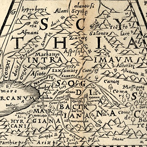 (Scythia Kazakstan Central Asia Persia Turkmenistan 1576 Petri rare old map)