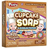 Playz Cupcake Soap & Bubbles Science Factory - 24+ Tools to Make Dessert Soaps You Can Use - Best Gift for Ages 8, 9, 10, 11, 12 Year Old Girls and Boys