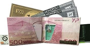 Cartera Billete 500 Euros Monedero diseño quinientos Euros Billetera Tyvek Origami: Amazon.es: Equipaje