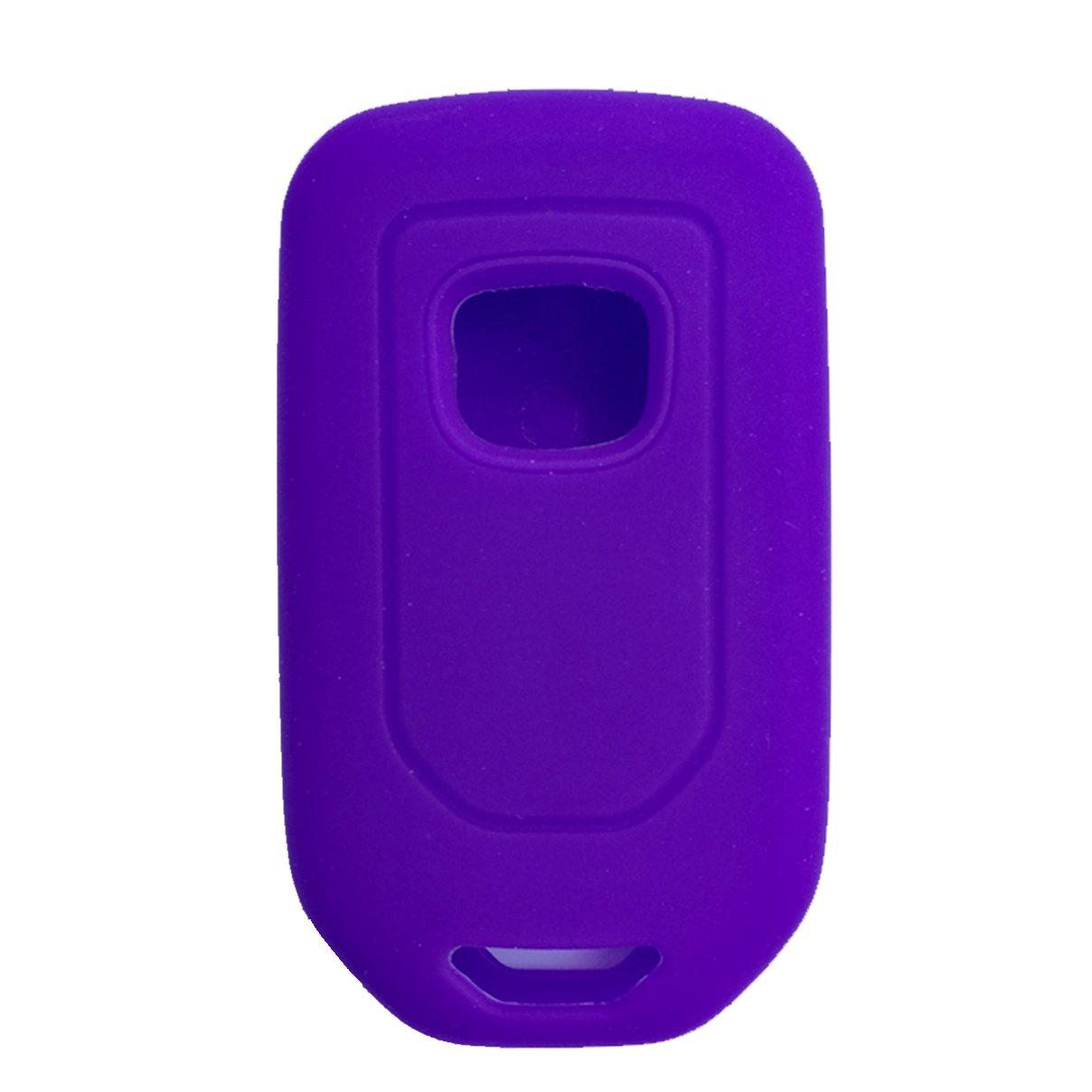 2 Silicone Black Rose Car key Fob Case Cover Holder Skin Protector for 2019 2018 2017 2016 2015 Honda Accord Civic CR-V CRV Pilot EX EX-L Touring Premium 5 Buttons Smart key A2C81642600 Alegender Qty