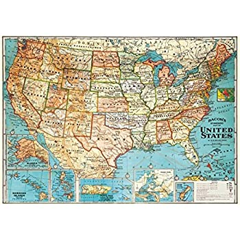 Amazoncom X Anchor Maps United States At Night Poster - Us parchment map