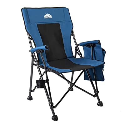 Coastrail Outdoor Folding Camping Chair High Back Padded Lawn Chair