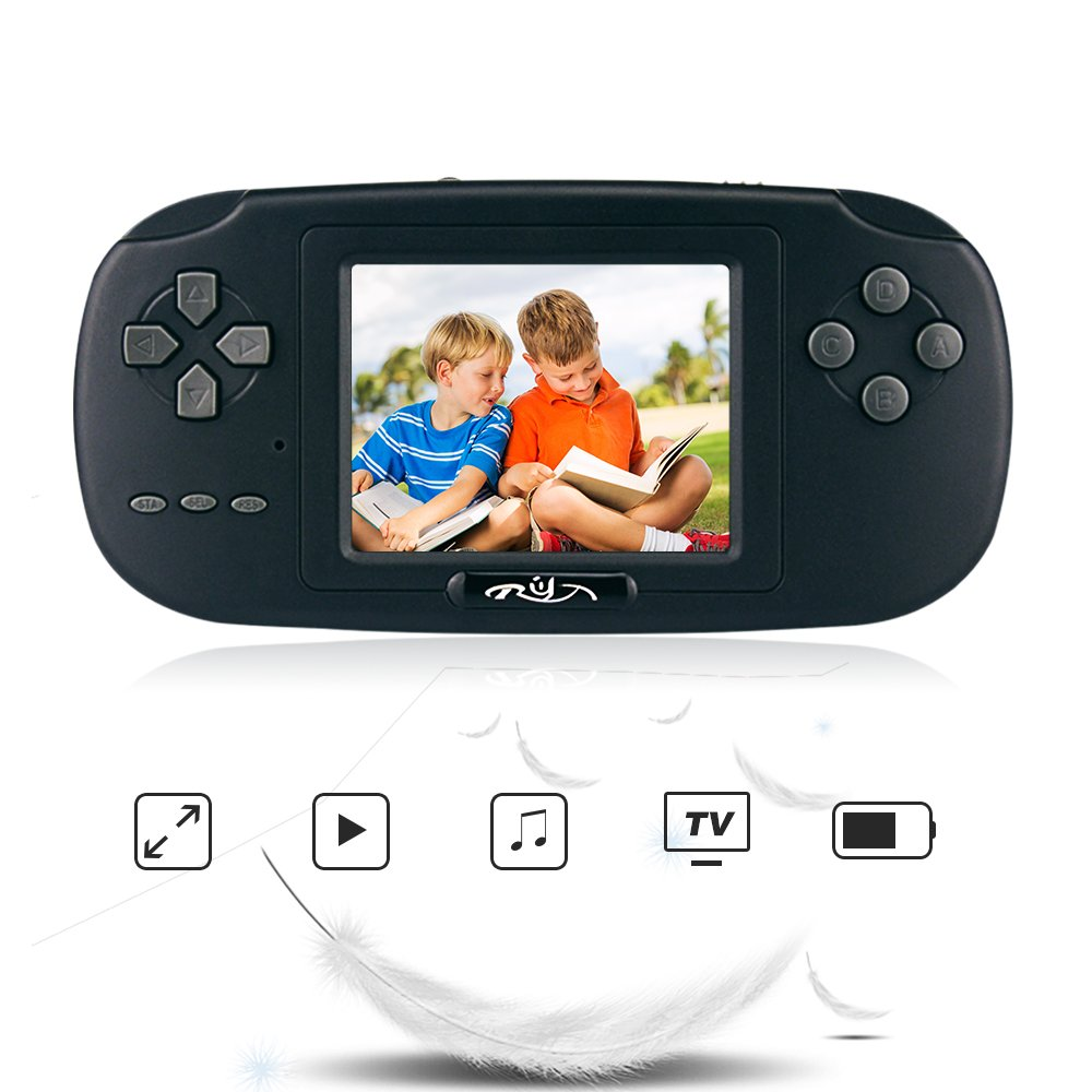 Rongyuxuan Handheld Game Console, Game Console 2.8'' 168 Games LCD PVP Game Player Classic Game Console ,USB Portable Video Game Player
