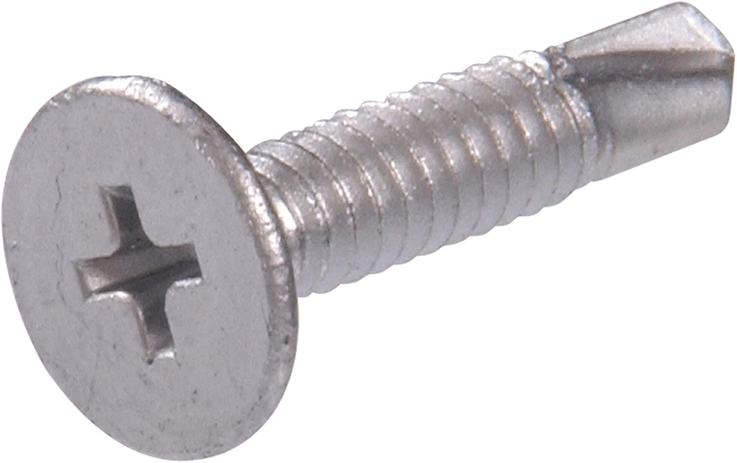 The Hillman Group 560662 10-24-Inch x 1-1/4-Inch Wafer Head Phillips Self Drilling Screw, 100-Pack