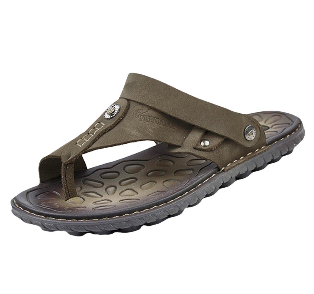 Insun Chanclas para Hombre Cuero Sandalias de Playa 41 EU|Marrón 2