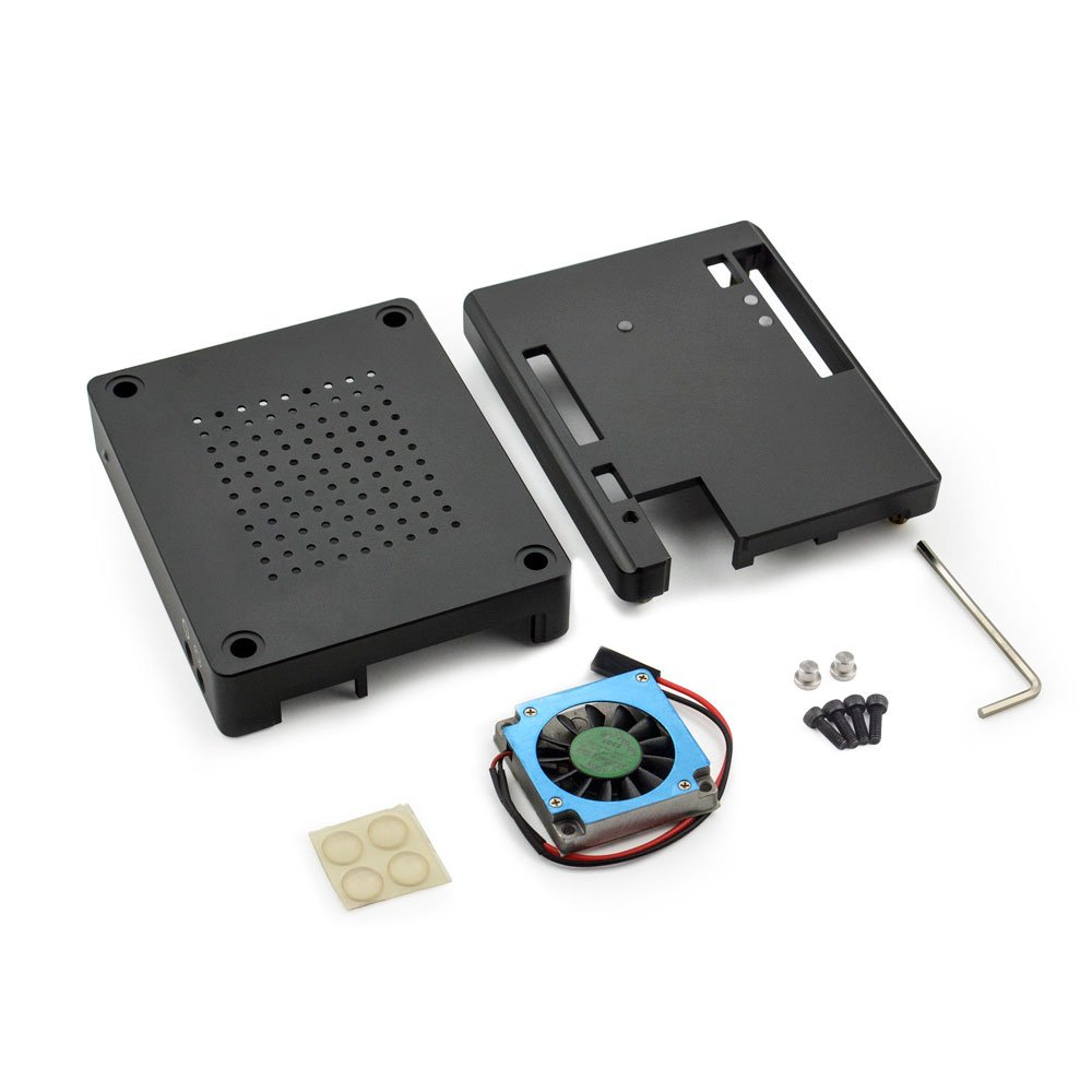 Aluminum Alloy Case for LattePanda - with a Cooling Fan as Gift