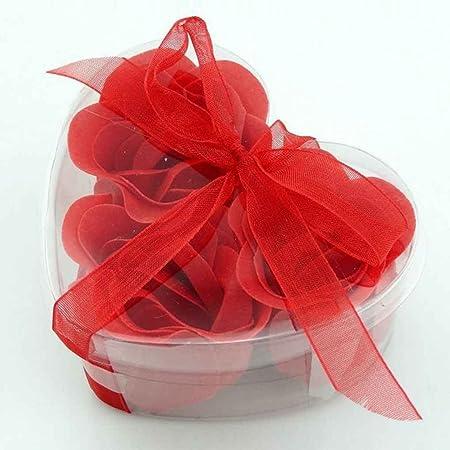 Fighting 3pcs//Bo/îte Coeur Rose Petal Savon Bain parfum/é Corps Fleur Cadeau de Mariage