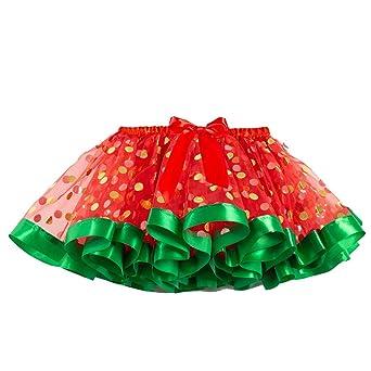 Finebo - Disfraz de baile para niña con falda de tul y lunares ...