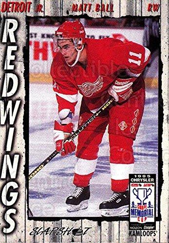 - (CI) Matt Ball Hockey Card 1995-96 Slapshot Memorial Cup 81 Matt Ball