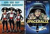 Three Amigos + Spaceballs Mel Brooks DVD Comedy Spoof Set double feature bundle