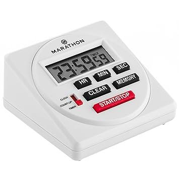 Marathon ti080001 grande Digital 24 horas temporizador con cuenta atrás, Count-Up y función