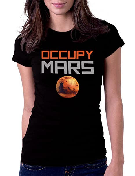Amazon.com: De la Mujer Occupy Mars Tee playera: Clothing