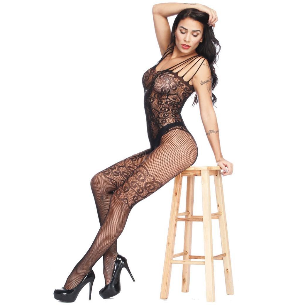 9616c2a3be Amazon.com  2018 Ladies Underwear Pajama☀ 😍Women Open Crotch Perspective  Bodystockings (Free Size
