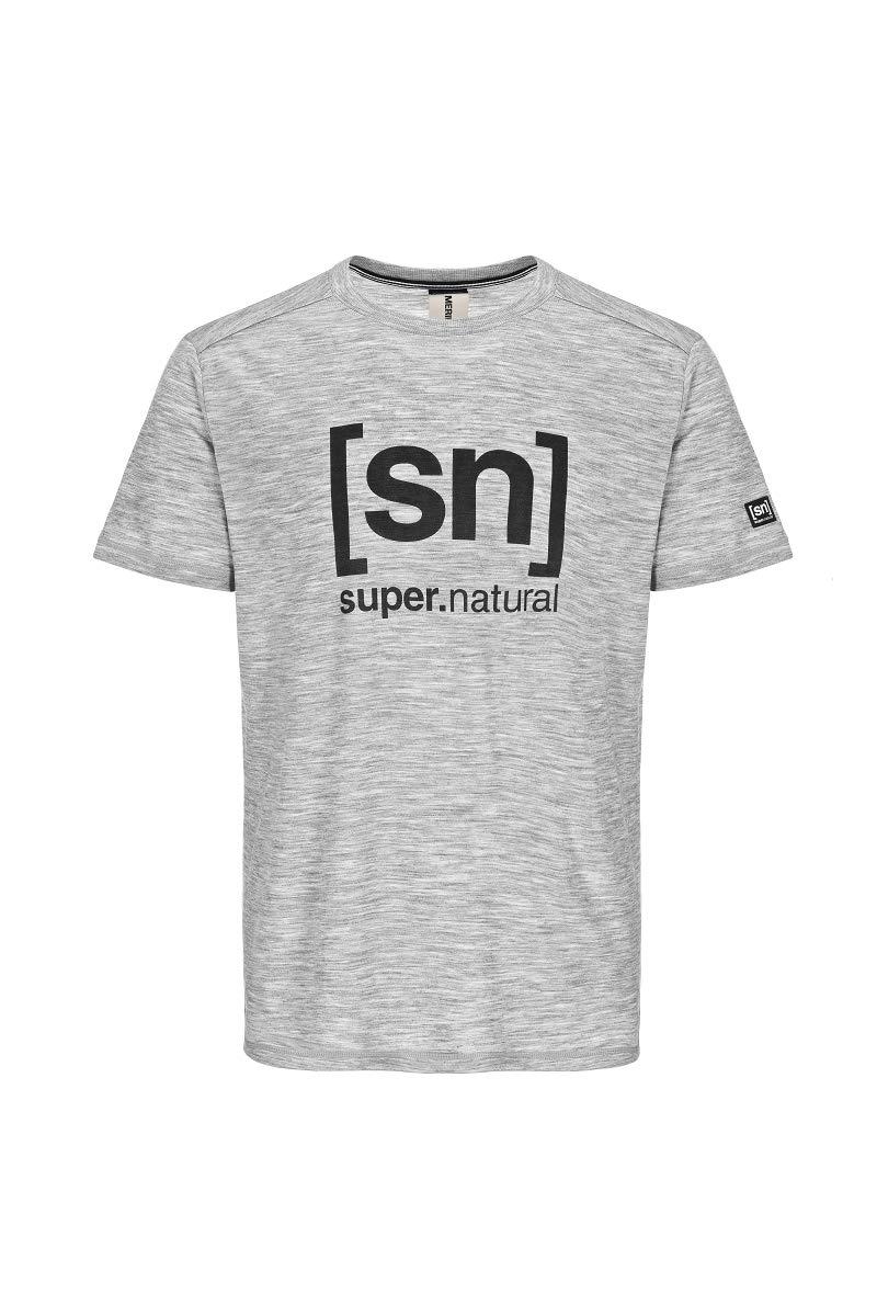 M ESSENTIAL I.D TEE super.natural Bedrucktes Herren Kurzarm Shirt Mit Merinowolle