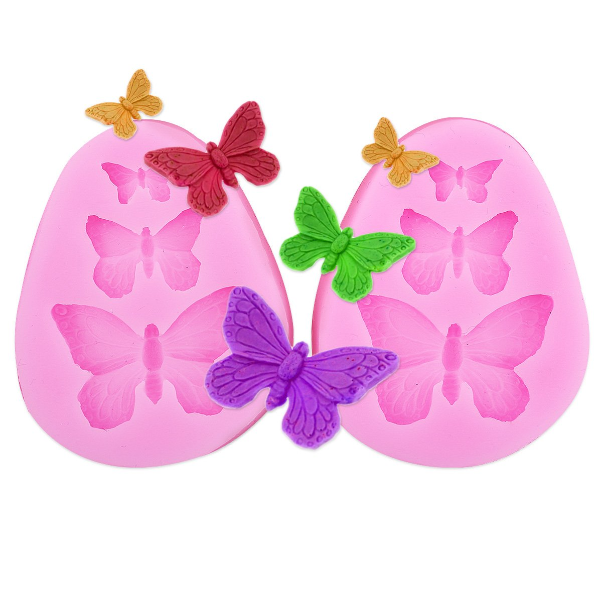 2x Butterfly Shaped Silicone Mould Surepromise