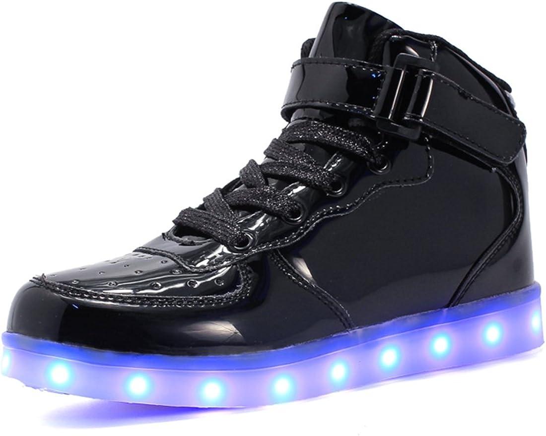bevoker Kids LED Light Up Trainers High