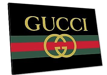 Kuader Tableaux Inspirés De Gucci Logo À Rayures Rouges Et