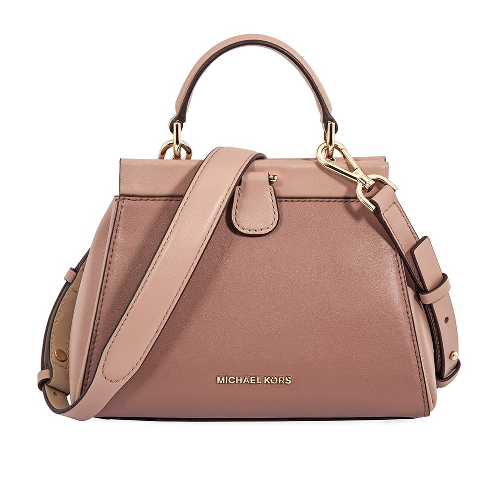 514b7c19738c MICHAEL Michael Kors Gramercy Frame Top Handle Color-Block Leather Satchel  Bag