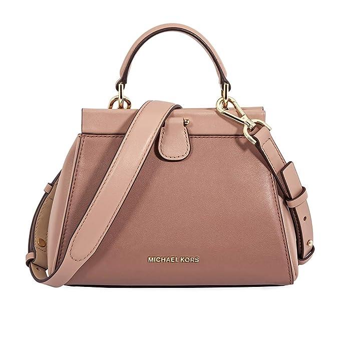 ff6af9c04c42b6 Amazon.com: MICHAEL Michael Kors Gramercy Frame Top Handle Color-Block  Leather Satchel Bag, Dusty Rose Soft Pink: Shoes