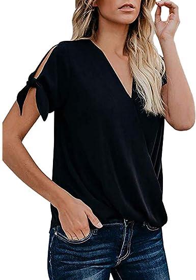Blusa Mujer, STRIR Blusas Camisetas Ropa de Mujer Suéter Jersey Camisas Manga Corta Blusas Pullover Tops Suelta: Amazon.es: Ropa y accesorios