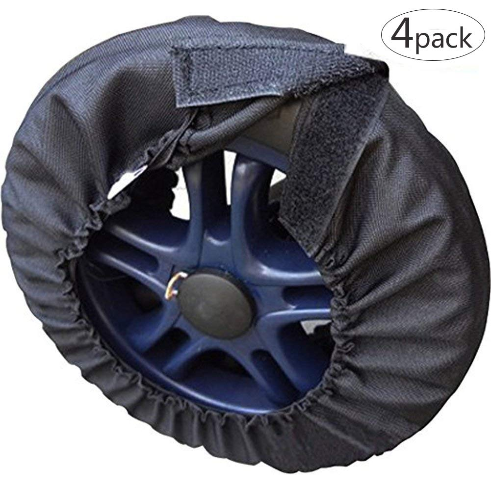 Da Jia Inc 4pcs Universal Stroller Pram Pushchair Wheel Cover for Diamteter 4.7-6.2'(Small 2pcs), 7-9.8'(Large 2pcs) 7-9.8(Large 2pcs)