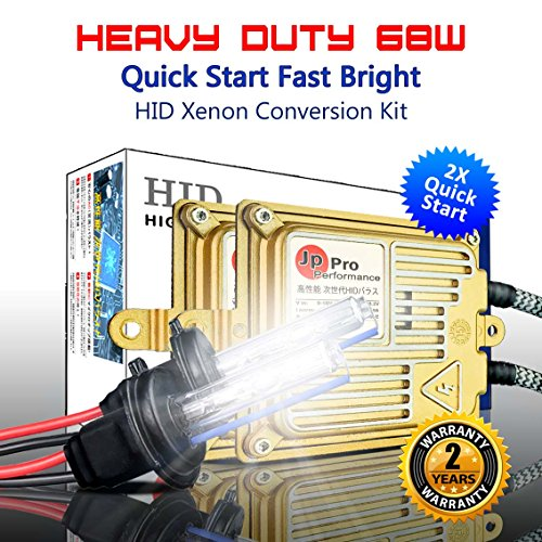 Heavy Duty 68W Quick Start Fast Bright H7 AC HID Xenon Conversion Kit Headlight Fog-light (10000K Brilliant)