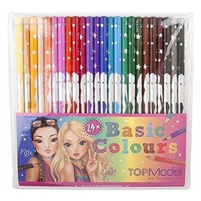 Top Model 006710 - Pack de 24 lápices, multicolor: Oficina y papelería