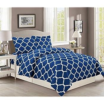 navy single duvet cover set star uk pottery barn thread count quality trellis lattice luxury soft all sizes colors king blue