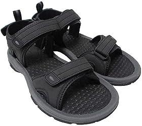 Khombu Mens Barracuda Sport Sandals Black