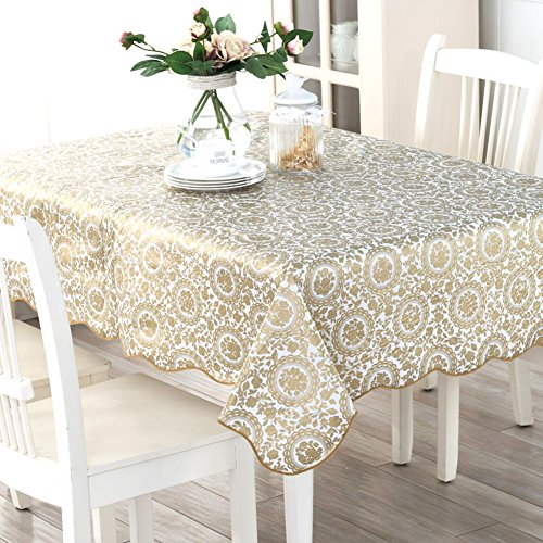 Tablecloth waterproof and anti-oiling pvc table cloth Coffee table cover towel Rectangle tablecloth-E 152x152cm(60x60inch)