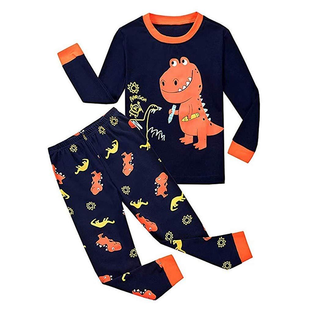 Bebés de Ropa Encantadora, YpingLonk Impresión Historieta Dinosaurio Manga Larga Juego de Ropa Camisas y Pantalones Conjunto de Ropa de 2 Piezas Inicio ...