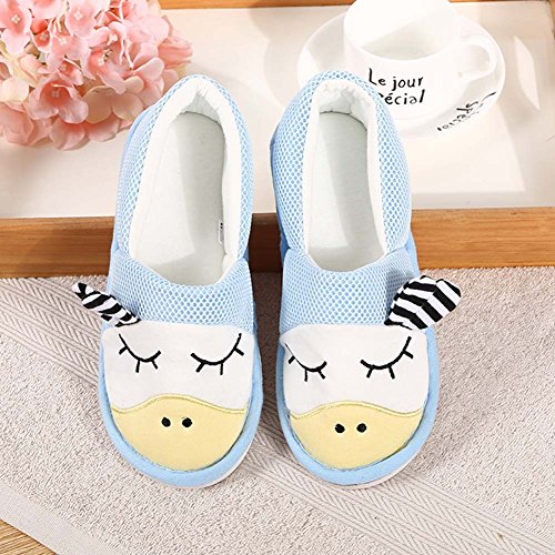 Slippers for Flat Cotton Women's Closed Washable Edema Pregnant Blue Knitted Diabetic BUYITNOW Ultra Toe Comfort qnwI4CSnR