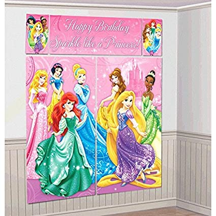 Amazoncom Disney Princess Sparkle Birthday Party Scene Setters