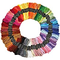 iCraft RN281 Cotton Embroidery Thread Set (Multicolor, Pack of 100)