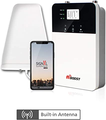 Improves Reception on Phones Cell Booster to Support all Carrier Boost up to 4,000-10,000 Sq Ft Tablets and Hotspots For Homes and Offices Cell Phone Signal Booster HiBoost 10K Smart Link