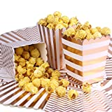 ONINIT 36pcs/Lot Rose Gold Popcorn Boxes Party Favor Gifts Bakery Box Birthday Party Bridal Shower Movie Night Baby Shower Decorations