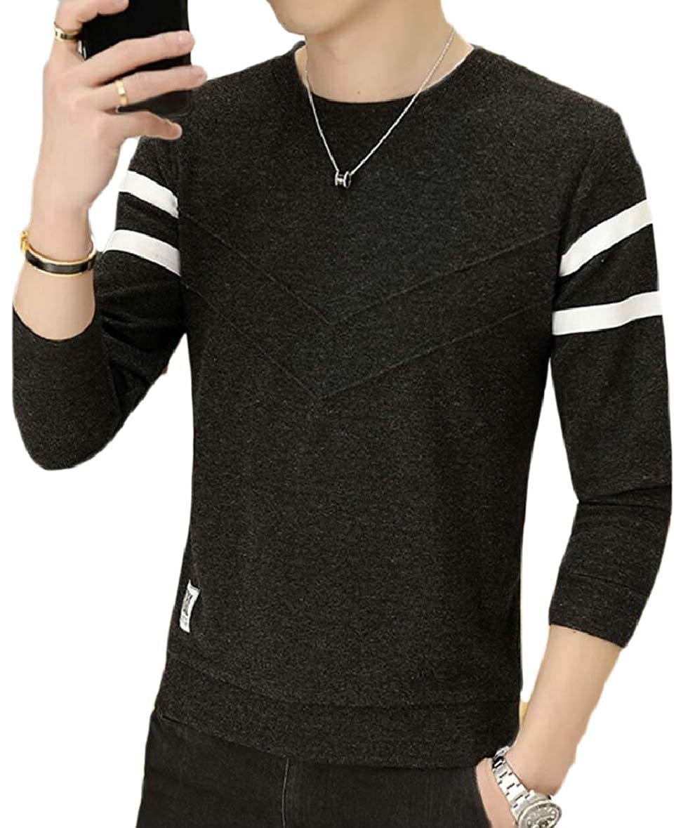 ouxiuli Mens V-Neck Knitting Leisure Slim Warm Knitwear Pullover Sweaters
