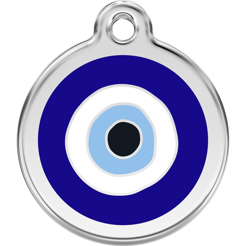 Red Dingo Personalized Evil Eye Pet ID Dog Tag (Medium)